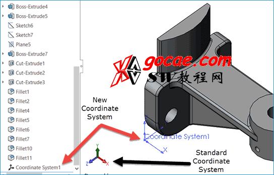 solidworks中新建的坐标系有什么用?