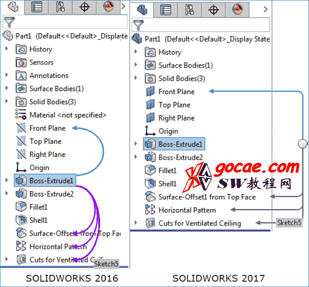 Solidworks2017用户界面中的功能改进/SW2017新功能(1)