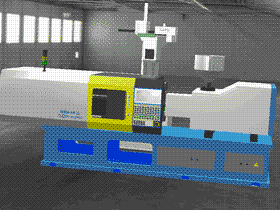 卧式注塑机3D模型图/设计方案外形图