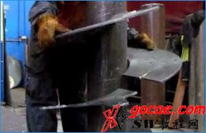 螺旋输送中的回转螺旋叶片的加工工艺方法/Solidworks放样折弯