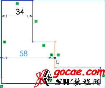 solidworks 通过 Instant2D 修改2D草图尺寸 SW基础教程