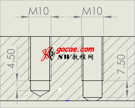 solidworks异型孔向导中的螺纹孔和底部螺纹孔有什么区别?