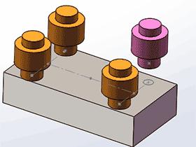 solidworks装配体中 草图阵列 零部件的使用方法