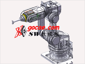 本站原创图纸 6轴机器人 机械设计3D图纸 RBAA1004