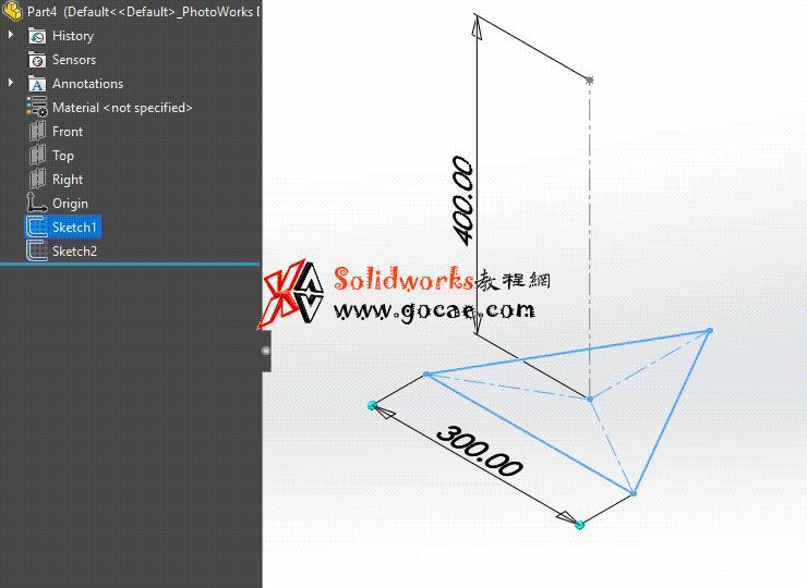 每日一练:#60 三棱锥 solidworks 薄板放样   钣金视频教程