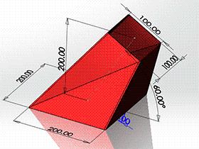 每日一练:#64 斜上口方锥管 矩形换向连接管 solidworks 薄板放样 | 钣金视频教程
