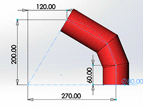 每日一练:#71 三节等径圆柱弯头 solidworks 薄板放样 | 钣金视频教程