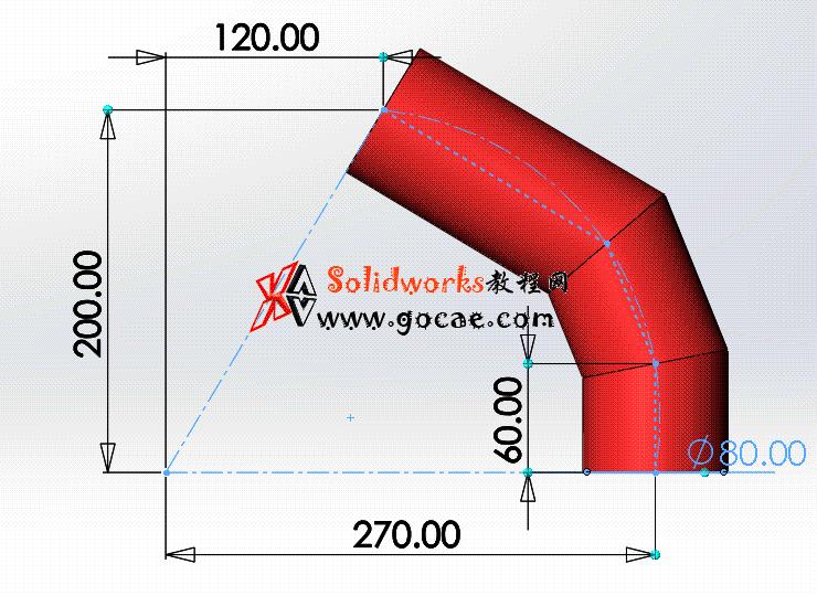 每日一练:#71 三节等径圆柱弯头 solidworks 薄板放样   钣金视频教程