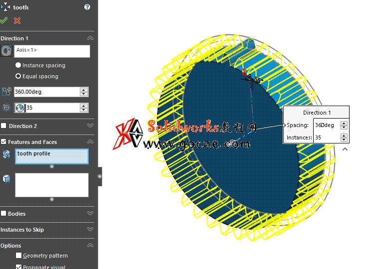 每日一练:#74 直齿圆柱齿轮做成solidworks 模板零件方便修改和出工程图   视频教程