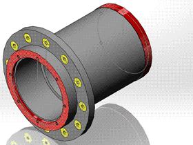 每日一练:#75 | 简单回转体零件的建模 | 焊接翻转变位机 solidworks 视频教程