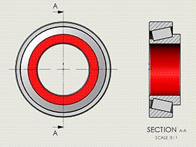 每日一练:#78 | 画一个方便出solidworks工程图中的 圆锥滚子轴承【30000】