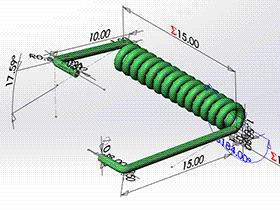 每日一练:#81 | 扭转弹簧 发夹压簧 | solidworks 初学基础视频教程