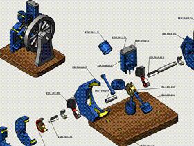 每日一练 #92 | DIY 6缸星形发动机装配体 | solidworks2020 初学基础视频教程