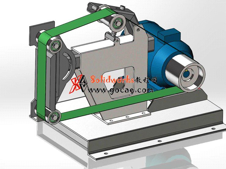 每日一练 #98 | 砂带机 | solidworks2020 机械设计 案例视频教程