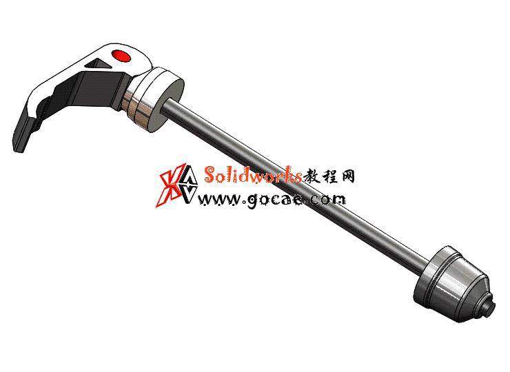 每日一练 #102 | 山地自行车快拆轴 | solidworks2020 机械设计 案例视频教程
