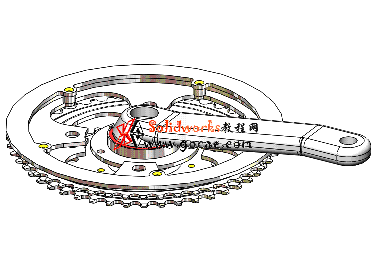 每日一练 #103 | 山地自行车牙盘 | solidworks2020 机械设计 案例视频教程