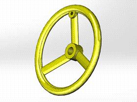 Solidworks入门教程:EB057 圆轮缘手轮C型 JB/T 7273.5 视频教程