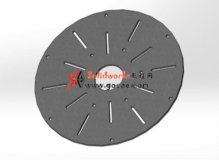 Solidworks入门教程:EB078 圆形工作台 三维CAD习题 零件建模 视频教程