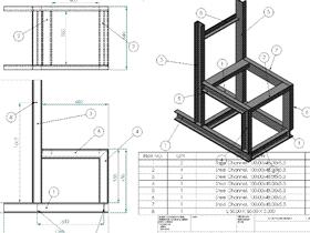 Solidworks入门教程:EB086 焊件练习 槽钢机架 solidworks2020 视频教程