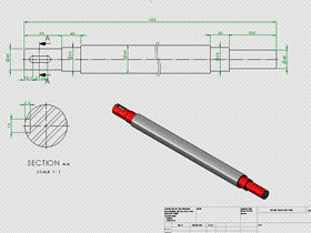 Solidworks入门教程:EB090 建模练习 传动轴 solidworks2020 视频教程