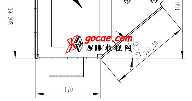 Solidworks入门教程:EB060 钣金-教程#2-/ 带角度的边线法兰在做完成图时要如何标注尺寸-视频教程