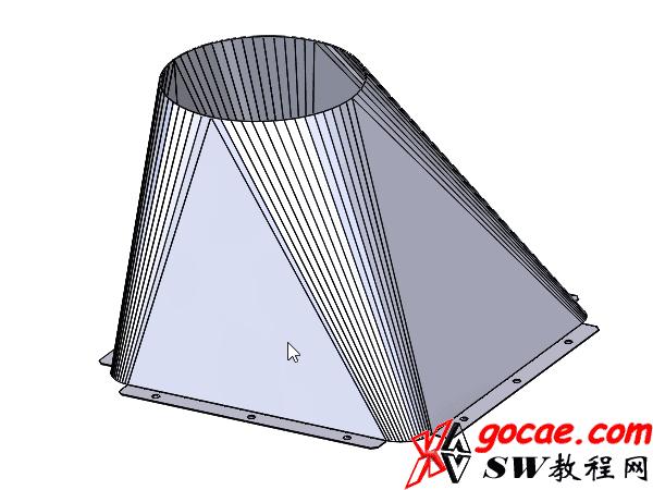 Solidworks入门教程:EB066 钣金-教程#8-放样折弯 天圆地方展开-视频教程