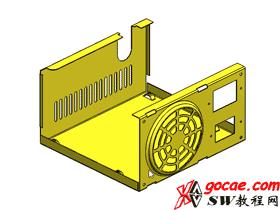 Solidworks入门教程:EB067 钣金-教程#9-电源箱盒-成型工具-视频教程