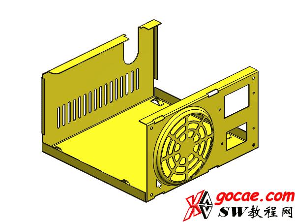 solidworks钣金-教程#9-电源箱盒-成型工具-视频教程
