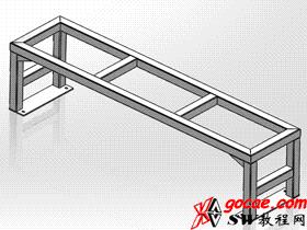 solidworks焊件-教程#6-方通型钢结构件的尺寸控制-视频教程