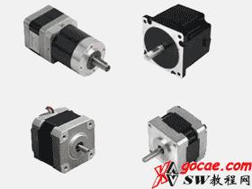 步进电机和调速电机标准件库 机械设备 3D模型 素材