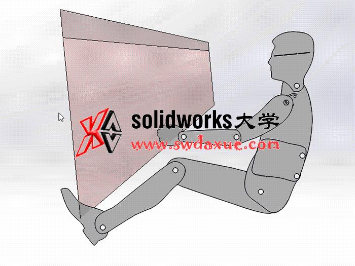 平板式驾驶员人体模板可调整关节 方案素材 solidworks 3D 零件库