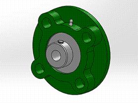 solidworks 标准件 #6 UELFC 带凸台圆形座外球面球轴承 GB╱T 7810 3D模型零件库 标准查询