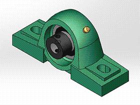 solidworks 标准件 #7 UELP 带立式座轴承 GB╱T 7810 3D模型零件库 标准查询