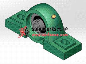 solidworks 标准件 #8 UCP 带立式座轴承 GB╱T 7810 3D模型零件库 标准查询