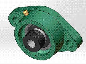 solidworks 标准件 #10 UELFLU 带菱形座轴承 GB╱T 7810 3D模型零件库 标准查询