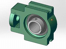 solidworks 标准件 #12 UCT 带滑块座顶丝外球面球轴承 GB╱T 7810 3D模型零件库 标准查询