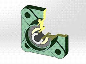 solidworks 标准件 #13 UCFU 带方形座轴承 GB╱T_7810 3D模型零件库 标准查询