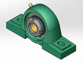 solidworks 标准件 #15 UKP+H 带立式座轴承 GB╱T 7810 3D模型零件库 标准查询