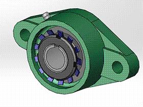 solidworks 标准件 #16 UKFLU+H 带菱形座轴承 GB╱T 7810 3D模型零件库 标准查询