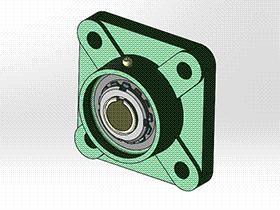 solidworks 标准件 #17 UKFU+H 带方形座轴承 GB╱T 7810 3D模型零件库 标准查询
