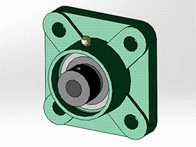 solidworks 标准件 #18 UELFU 带方形座轴承 GB╱T 7810 3D模型零件库 标准查询