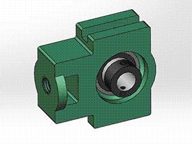 solidworks 标准件 #19 UELT 带滑块座偏心套外球面球轴承 GB╱T 7810 3D模型零件库 标准查询