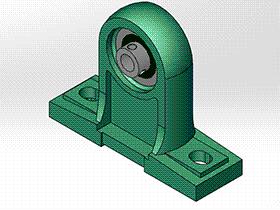 solidworks 标准件 #20 UCPH 带高中心立式座顶丝外球面球轴承 JB╱T 5303 3D模型零件库 标准查询