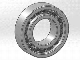 solidworks 标准件 #21 深沟球轴承(60000) GB/T 276 3D模型零件库 标准查询