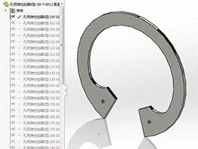 solidworks 标准件 #25 孔用弹性挡圈B型 GB╱T 893.2 3D模型零件库 标准查询