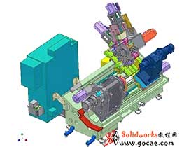高精度车铣复合加工机床的旋转动力刀塔结构