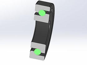 solidworks 标准件 #31 FAG BSB系列丝杆专用轴承 60度角接触轴承  3D模型零件库 标准查询