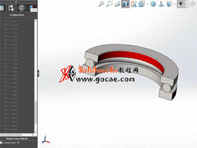 solidworks 标准件 #55 单向推力球轴承[51000] GB/T 301-2015 solidworks 3D模型 三维零件库 标准查询