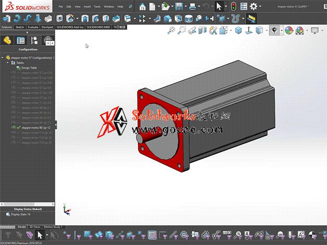 solidworks 标准件 #51 57 86 110步进电机 solidworks 3D模型 三维零件库 标准查询