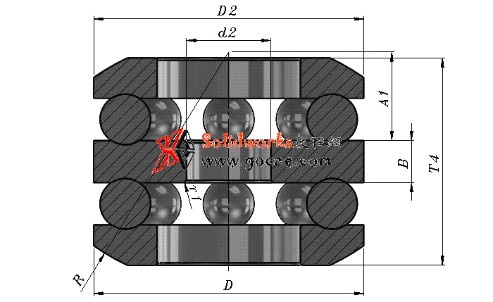 solidworks 标准件 #58 推力球轴承[52000] GB/T 301-2015 solidworks 3D模型 三维零件库 标准查询